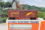 LIONEL 19200 TIDEWATER SOUTHERN BOXCAR 0/027 SCALE- BOXED - B13