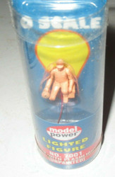 0/027 TRAINS --7001 MAN WITH FLASHLIGHT- LIGHTED- UNPAINTED - NEW-L182