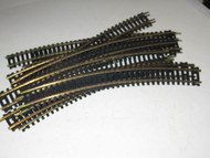 """HO TRACK - CIRCLE OF 12 BRASS 18"""" CURVED SECTIONS - SOME ATLAS- GOOD- B1"""