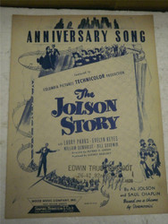 VINTAGE SHEET MUSIC- ANNIVERSARY SONG- GOOD CONDITION- H51