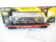 K-LINE BY LIONEL - 21708- CANADIAN NATIONAL SCALE OPER. LOG DUMP CAR- LN- W72