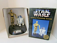 COLLECTIBLE STAR WARS TALKING ANIMATED ELECTRONIC BANK 1977 C3PO & R2D2 LotD