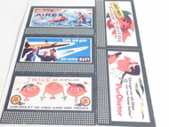 LIONEL- SHEET OF FIVE REPRODUCTION BILLBOARDS- AIREX- ETC- NEW- M9