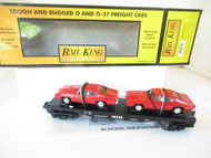 MTH TRAINS - RAILKING 30-7639 FLATCAR W/DIECAST ERTL '68 GTO'S- 0/027 - LN- HB1