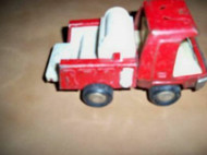 H19 VINTAGE BUDDY L TIN RED RESCUE VEHICLE- AS IS