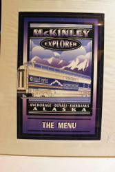 "VINTAGE RAILROAD POSTERS/PRINTS- McKINLEY EXPLORER MENU PIC.-FRAMED 21"" X 17"""