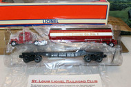LIONEL 52371 ST. LOUIS RRC FIRE TRUCK/TANKER ON NYC FLAT 0/027- NEW- B16