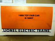 LIONEL 6-19907 1989 TOY FAIR CAR NEW IN BOX - S19