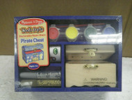 NEW MELISSA & DOUG- 3095 DECORATE YOUR OWN PIRATE CHEST