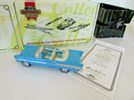 YAS11-M MATCHBOX DIECAST 1957 BEL AIR CONVERTIBLE BLUE DINKY COA LotD