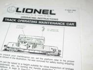 LIONEL INSTRUCTION SHEET- 6610 TRACK MAINTENANCE CAR- GOOD - H26