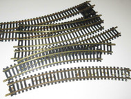 HO BRASS CURVED TRACK - 8 SECTIONS - GOOD- H39
