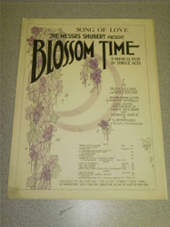 VINTAGE SHEET MUSIC- BLOSSOM TIME- THE MESSRS SHUBERT- GOOD CONDITION- H51
