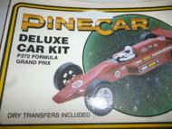 PINECAR DELUXE CAR KIT - P372 FORMULA GRAND PRIX- NEW- CLOSEOUT- H22