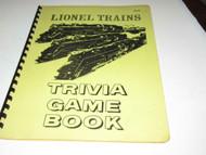 LIONEL TRAINS- TRIVIA GAME BOOK- APRIL PUBLICATIONS- GREAT FUN- HB4