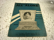 ALL ALONE IRVING BERLIN USED SHEET MUSIC