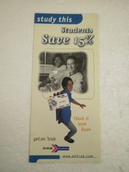 OLDER AMTRAK BROCHURE- STUDENTS SAVE 15%- NEW- H1