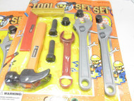 TOY CLOSEOUTS - BELOW COST- SIX PLASTIC TOOL SETS- MIXED - CARDED - NEW