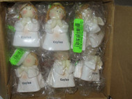 CHRISTMAS ORNAMENTS WHOLESALE- LITTLE ANGELS- 'KAYLEE' - (6) - NEW -S1