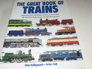 THE GREAT BOOK OF TRAINS- WHITE COVER W/TRAINS - NEW- 400 PAGES - S7