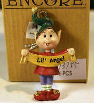 CHRISTMAS ORNAMENTS WHOLESALE- RUSS BERRIE- #13785- LIL ANGEL'- (6) - NEW -W74