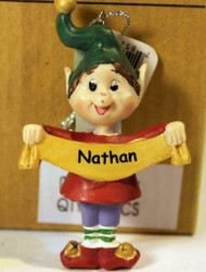 CHRISTMAS ORNAMENTS WHOLESALE- RUSS BERRIE- #13771- 'NATHAN'- (6) - NEW -W74