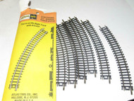 """ATLAS N SCALE- #2510 - PACKAGE OF 6 SECTIONS OF 9 3/4"""" RADIUS CURVE- LN - M46"""