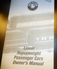 - LIONEL OWNERS MANUAL- HEAVYWEIGHT PASSENGER CARS - M33
