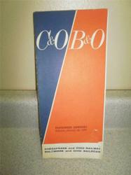 C&O / B&O PASSENGER SERVICE TIMETABLE JANUARY 25, 1970- GOOD- H22