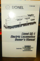 - LIONEL OWNERS MANUAL- LIONEL GG-1 ELECTRIC LOCOMOTIVE - M33