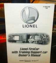 - LIONEL OWNERS MANUAL- FIRECAR WITH TRAINING / SUPPORT CAR - M33