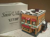 DEPARTMENT 56- RETIRED- 54232 AL'S TV SHOP- EXCELLENT CONDITION-BOX WEAR -D10