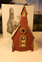 DEPT 56 58343 DUDDEN CROSS CHURCH DICKENS VILLAGE LIGHTED BLDG NICE W/CORD D12