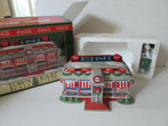 COKE BRAND TOWN SQUARE LIGHTED VILLAGE BLDG 1992 TICK TOCK DINER MINT