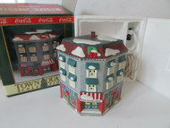 COCA COLA BRAND TOWN SQUARE LIGHTED VILLAGE BLDG TAYLOR & SONS EMPORIUM MINT