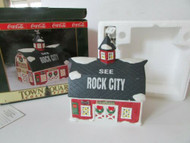 COCA COLA BRAND TOWN SQUARE LIGHTED VILLAGE BLDG MOONEY'S ANTIQUE BARN NICE