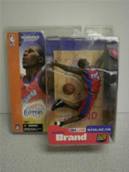 MCFARLANE SPORTS FIGURE- LOS ANGELES CLIPPERS- ELTON BRAND NEW-BASKETBALL L200