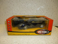 NEW RADIO CONTROLLED CAR -BLACK - VICTOR ROAD RACING - CLOSEOUT- L87