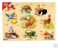 NEW WOODEN PETS PEG PUZZLE-SUPER SALE