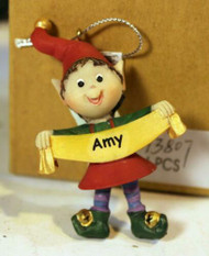 CHRISTMAS ORNAMENTS - WHOLESALE- RUSS BERRIE-#13807- 'AMY'- 4 PCS- NEW - W742
