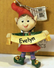 CHRISTMAS ORNAMENTS - WHOLESALE- RUSS BERRIE-#13841 'EVELYN '- 6 PCS- NEW -W742