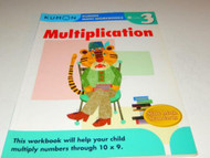 KUMON MATH WORKBOOKS- MULTIPLICATION- GRADE 3 - USED - GOOD - W15