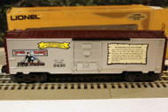 LIONEL - 9430 JOSHUA COWEN BOXCAR- THE STANDARD YEARS - 0/027- BOXED - W56