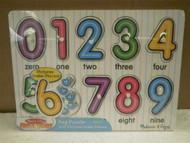 MELISSA & DOUG- #3273 'SEE-INSIDE' NUMBERS PEG PUZZLE- NEW