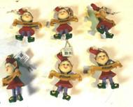 CHRISTMAS ORNAMENTS - WHOLESALE- RUSS BERRIE-#13801- ALLISON- 6 PCS- NEW -W741