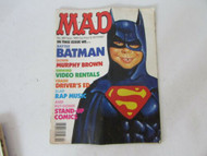 MAD MAGAZINE #289 SEPTEMBER ISSUE 1989 BATMAN STAIN ON COVER W5
