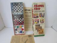 VTG ACTIVITOYS LTD NO. 1399 TRAVEL TRIO 3 PLASTIC POCKET GAMES FOR TRAVEL