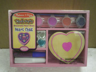 NEW MELISSA & DOUG- 3094 DECORATE YOUR OWN HEART CHEST