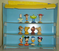 DISNEY SUPER-MARKET DISPLAY W/12 CHARACTERS- EXC. CONDITION- MR1