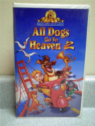 ALL DOGS GO TO HEAVEN 2- 1996- USED VHS TAPE- GOOD CONDITION- L40